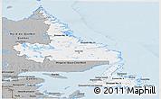 Gray Panoramic Map of Newfoundland and Labrador