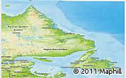 Physical Panoramic Map of Newfoundland and Labrador