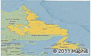 Savanna Style Panoramic Map of Newfoundland and Labrador