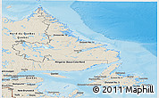 Shaded Relief Panoramic Map of Newfoundland and Labrador