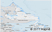 Silver Style Panoramic Map of Newfoundland and Labrador