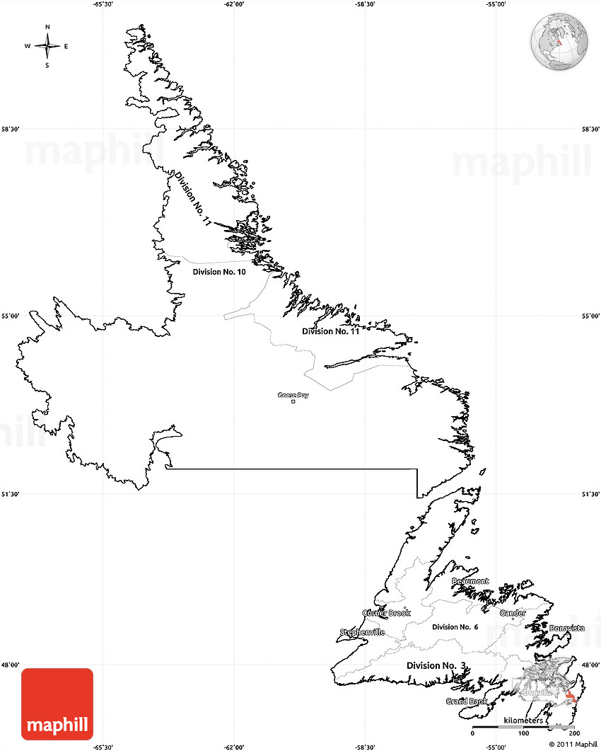 Image Result For Newfoundland And Labrador Map