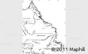 Blank Simple Map of Newfoundland and Labrador