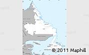Gray Simple Map of Newfoundland and Labrador