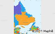 Political Simple Map of Newfoundland and Labrador