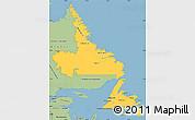 Savanna Style Simple Map of Newfoundland and Labrador