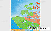 Political Shades Map of Northwest Territories