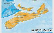 Political Shades 3D Map of Nova Scotia
