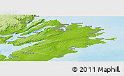 Physical Panoramic Map of Cape Breton