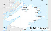 Silver Style Simple Map of Cape Breton