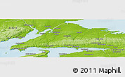 Physical Panoramic Map of Cumberland