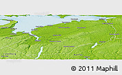 Physical Panoramic Map of Hants