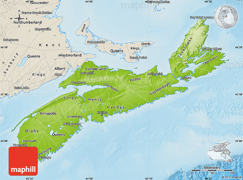 South america map land features physical map of nova scotia shaded relief outside south america map land features publicscrutiny Images