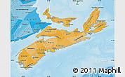 Political Shades Map of Nova Scotia