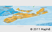 Political Shades Panoramic Map of Nova Scotia