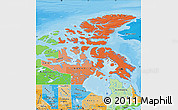 Political Shades Map of Nunavut