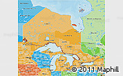 Political Shades 3D Map of Ontario
