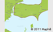Physical 3D Map of Essex
