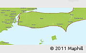Physical Panoramic Map of Essex
