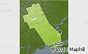 Physical 3D Map of Frontenac, darken