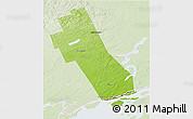 Physical 3D Map of Frontenac, lighten