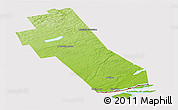 Physical Panoramic Map of Frontenac, cropped outside