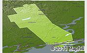 Physical Panoramic Map of Frontenac, darken