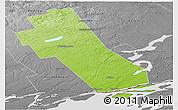 Physical Panoramic Map of Frontenac, desaturated
