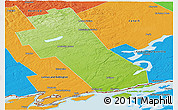 Physical Panoramic Map of Frontenac, political outside