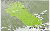Physical Panoramic Map of Frontenac, semi-desaturated