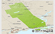 Physical Panoramic Map of Frontenac, shaded relief outside