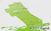 Physical Panoramic Map of Frontenac, single color outside