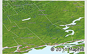 Satellite Panoramic Map of Frontenac