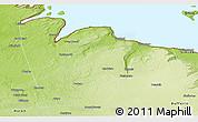Physical Panoramic Map of Grey