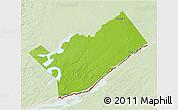 Physical 3D Map of Leeds and Grenville, lighten