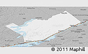 Gray Panoramic Map of Leeds and Grenville