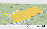 Savanna Style Panoramic Map of Leeds and Grenville