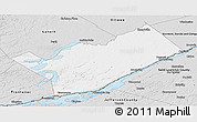Silver Style Panoramic Map of Leeds and Grenville