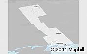 Gray Panoramic Map of Lennox and Addington, single color outside