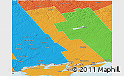 Political Panoramic Map of Lennox and Addington