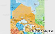 Political Shades Map of Ontario