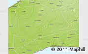 Physical 3D Map of Middlesex