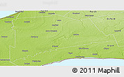 Physical Panoramic Map of Middlesex