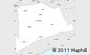 Silver Style Simple Map of Middlesex