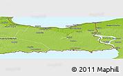Physical Panoramic Map of Niagara