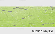 Physical Panoramic Map of Oxford