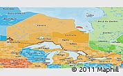 Political Shades Panoramic Map of Ontario