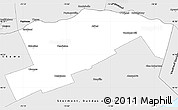 Silver Style Simple Map of Prescott and Russell