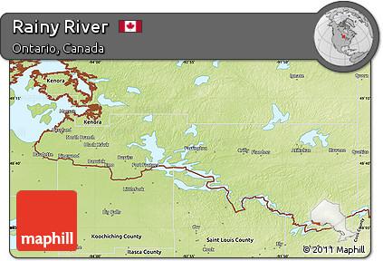 Rainy River Map