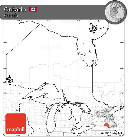 Free Blank Simple Map of Ontario no labels